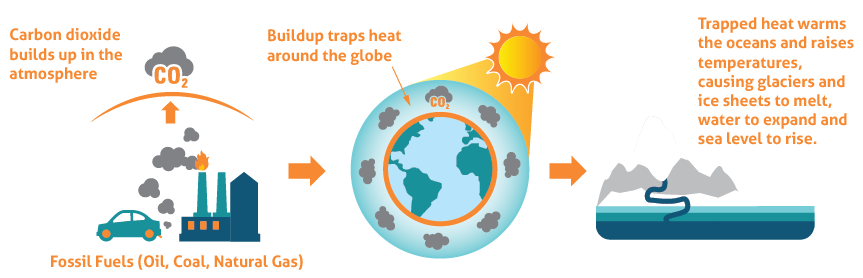 greenhouse gas effects diagram